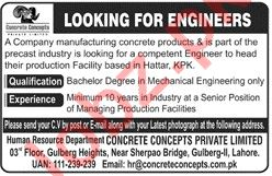 Concrete Concepts Jobs 2019 for Engineers