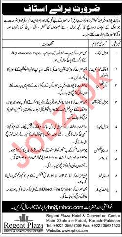 Regent Plaza Karachi Jobs 2019 for Electricians