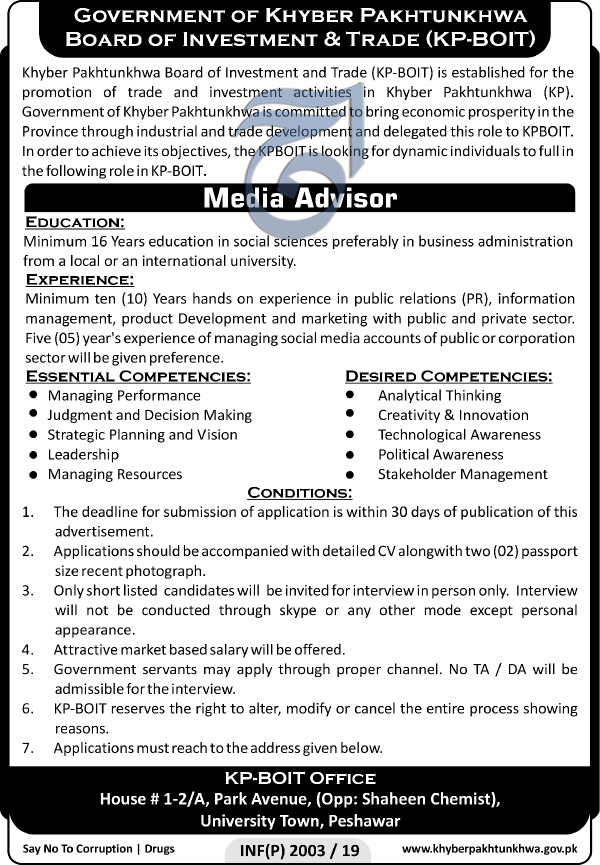 Board Of Investment & Trade Jobs 2019