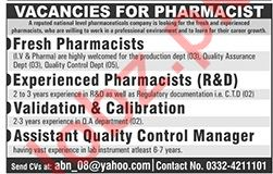 Pharmacists Jobs 2019 in Rawalpindi