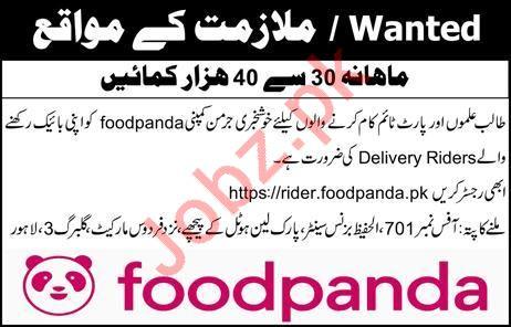 Foodpanda Delivery Riders Jobs 2019
