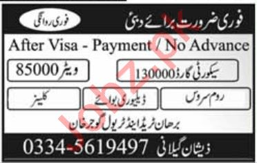 Security Guard & Delivery Boy Jobs 2019