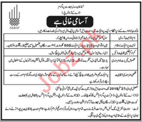 Aga Khan Rural Support Programme AKRSP Jobs for Supervisor
