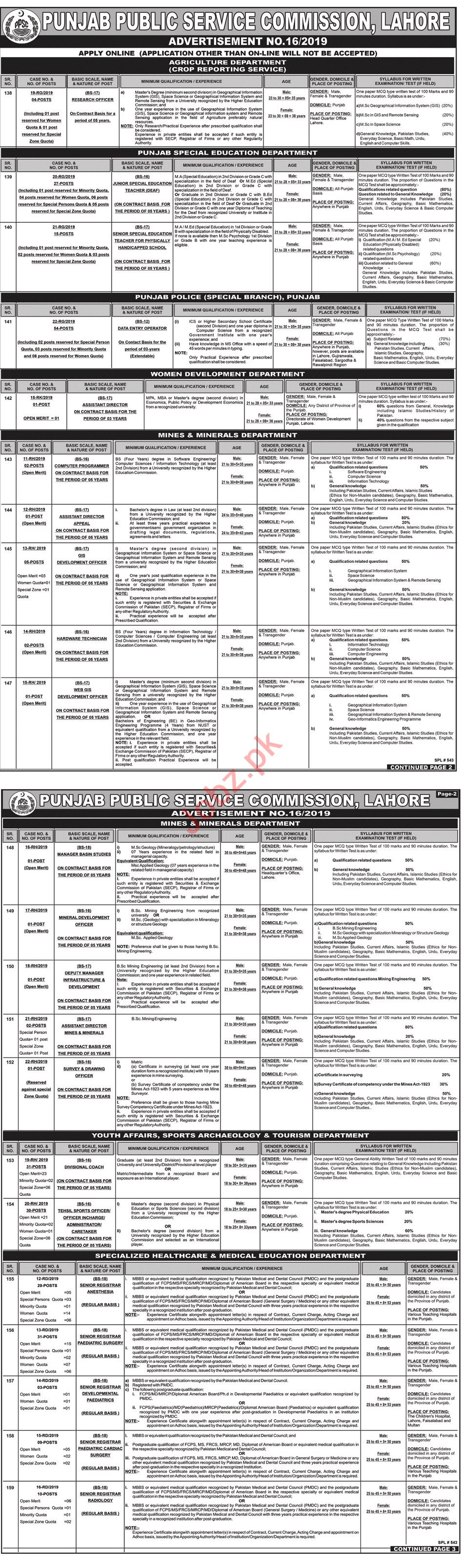 Punjab Public Service Commission Jobs in Lahore