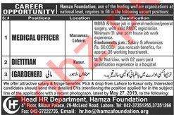 Hamza Foundation Lahore NGO Jobs for Medical Officers