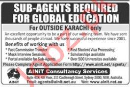 Sub Agents Jobs 2019 in Karachi