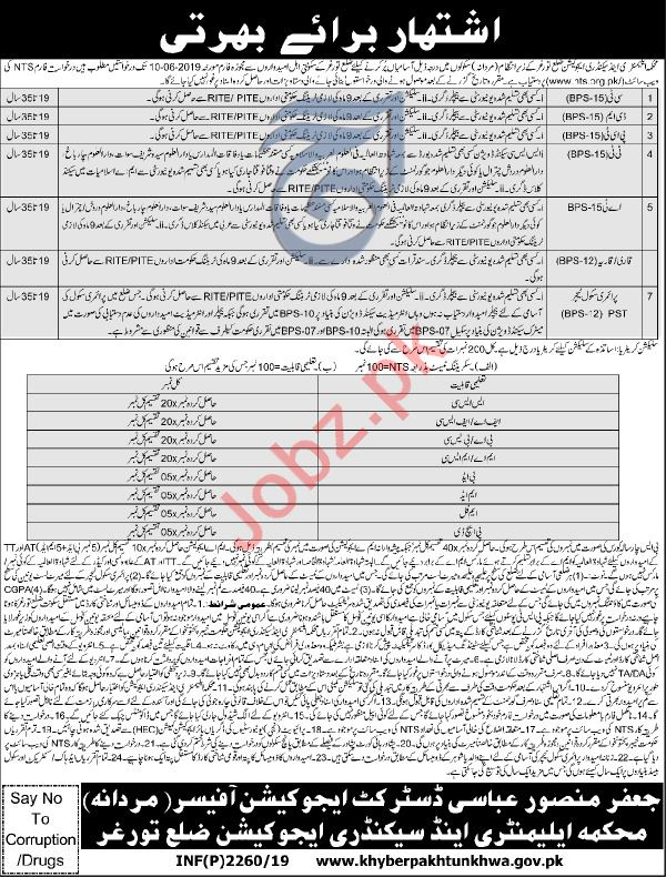 Elementary & Secondary Education Jobs in Torghar via NTS