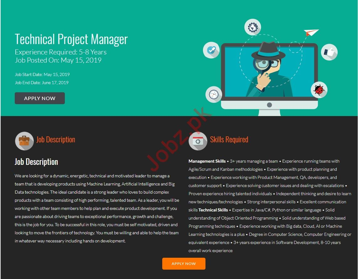 FiveRivers Technologies Jobs for Technical Project Manager