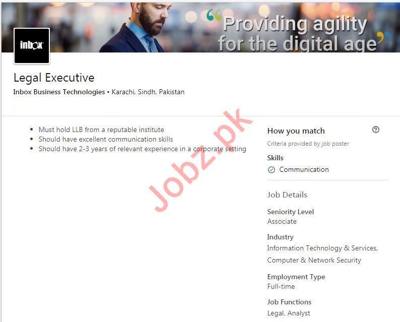 Legal Executive Jobs in Inbox Business Technologies
