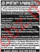 Chief Financial Officer Jobs in Pharmaceutical Company