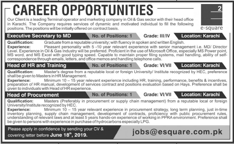 Head Of HR & Procurement Job in Karachi
