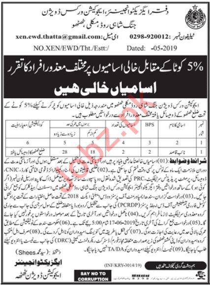 Naib Qasid Jobs in Education Works Division