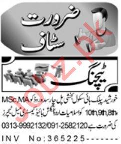Daily Aaj Newspaper Classified Teaching Jobs in Charsadda