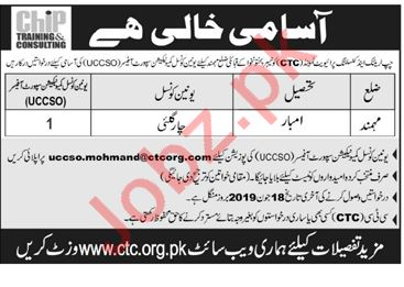 CHIP Training & Consulting CTC Mohmand Jobs 2019