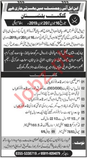 Pakistan Army Soldier & Clerk Jobs 2019