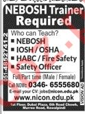 NICON Group of Colleges Rawalpindi Jobs for NEBOSH Trainer