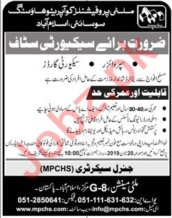 Multi Professionals Cooperative Housing Society Jobs 2019