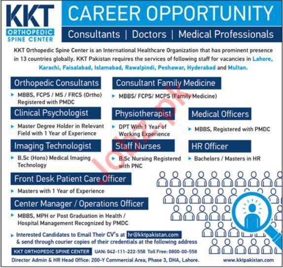 KKT Orthopedic Spine Center Jobs 2019