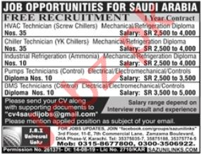 Technician Jobs in Saudi Arabia