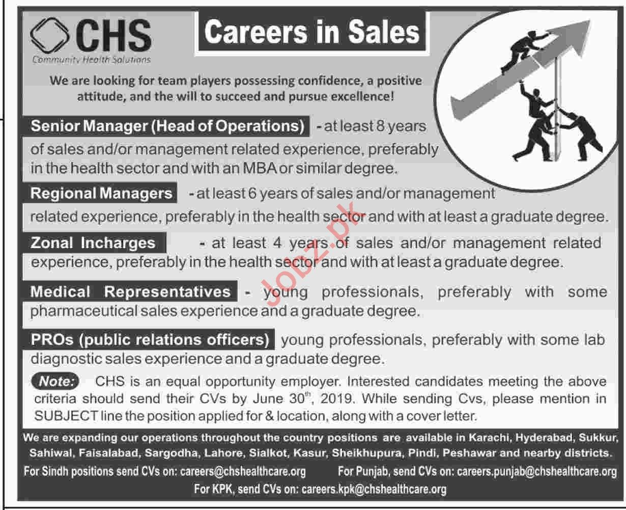 Senior Manager Regional Manager Jobs in Karachi