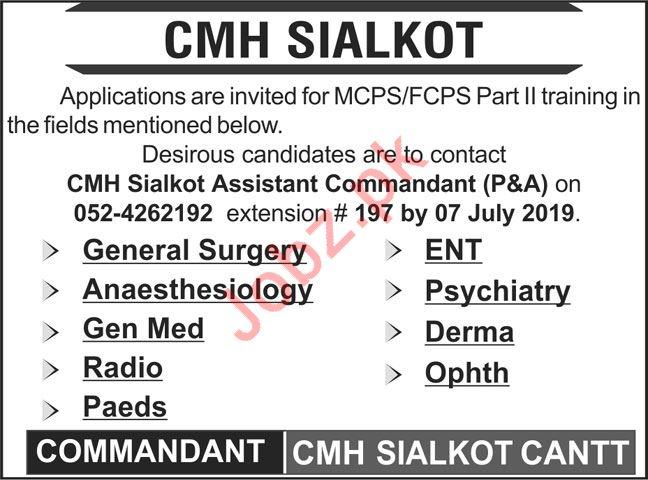 Combined Military Hospital CMH Sialkot Jobs 2019