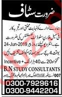 BN Study Consultants Lahore Jobs for Student Consultant