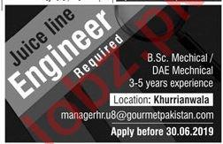 Gourmet Pakistan Jobs 2019 for Engineer