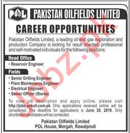 Pakistan Oilfields Limited POL Jobs 2019 For Rawalpindi