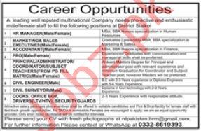 Management Staff Jobs 2019 in Sialkot