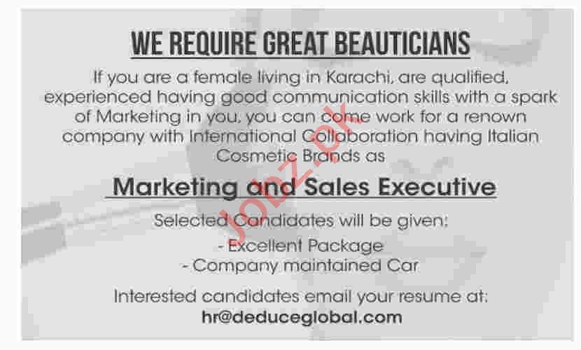 Sales & Marketing Executive Jobs in Karachi