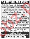 The Motherland School Sadiqabad Rawalpindi Jobs 2019