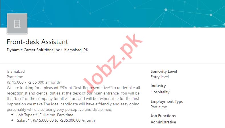 Dynamic Career Solutions Islamabad Jobs 2019