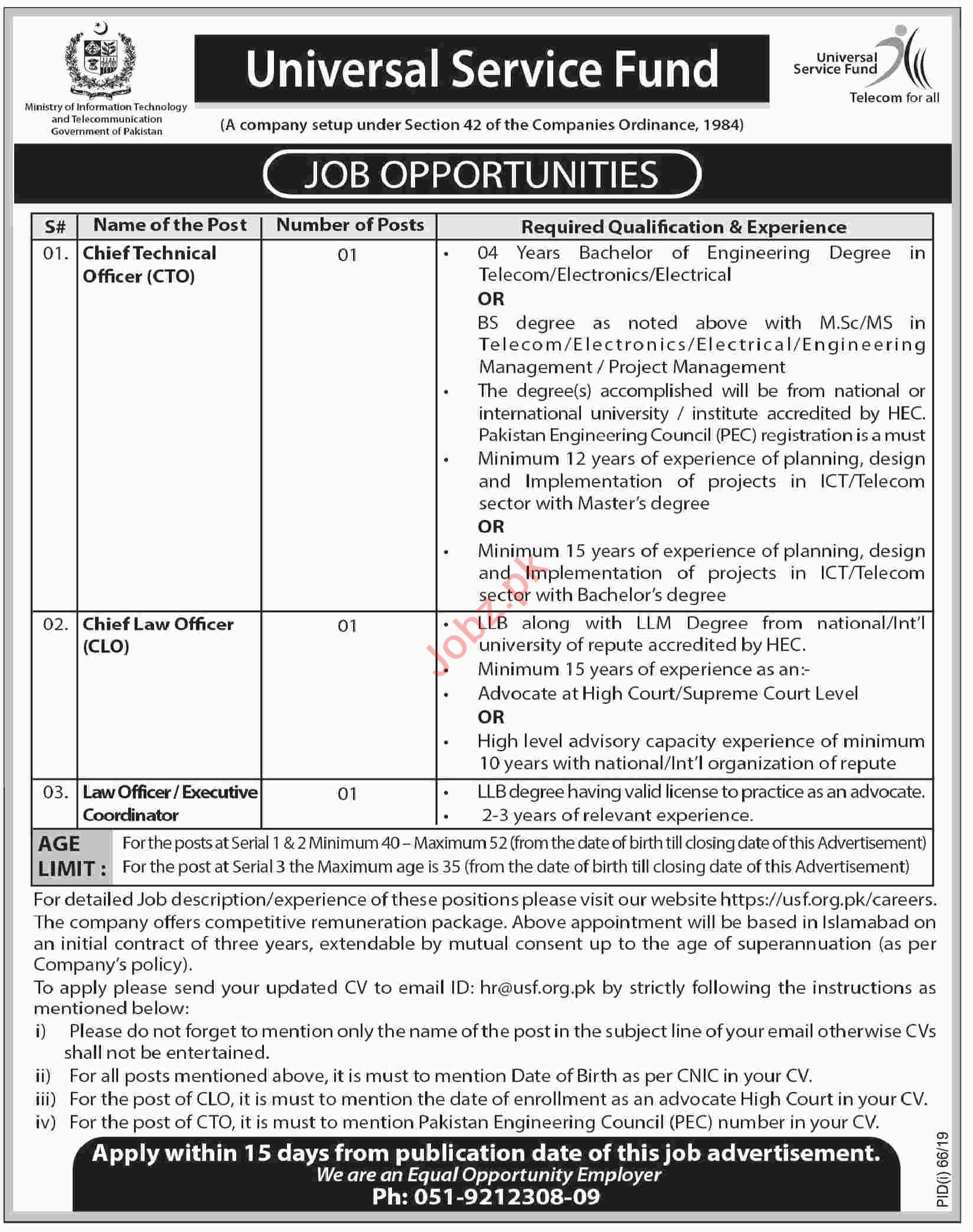 MOIT Jobs 2019 in Islamabad