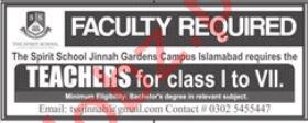 The Spirit School Jinnah Garden Campus Islamabad Jobs 2019