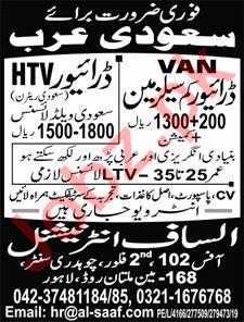 HTV Driver & Salesman Jobs 2019