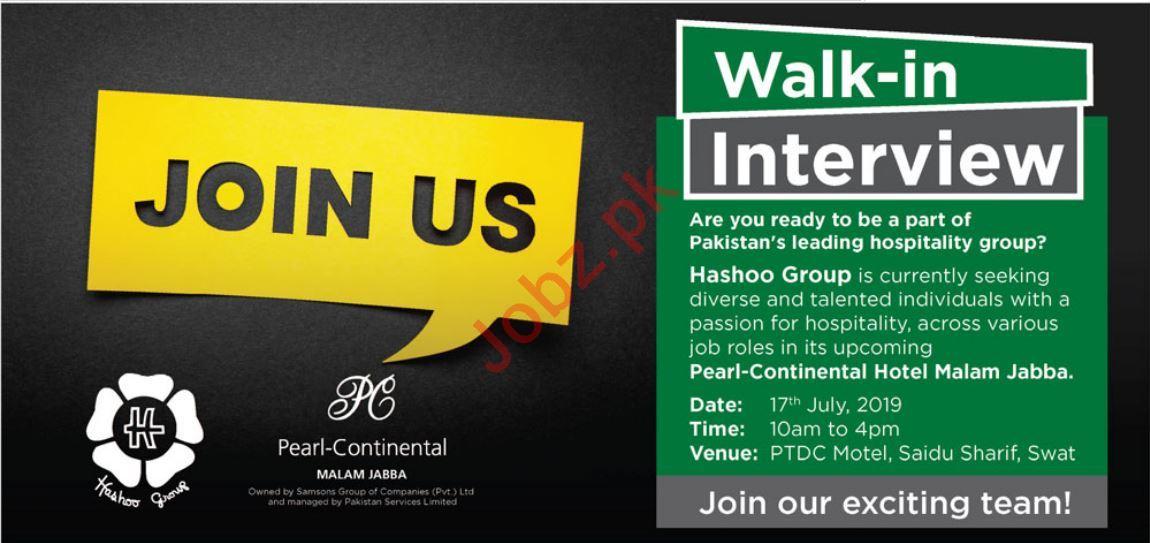 Pearl Continental Hotel Malam Jabba Jobs 2019