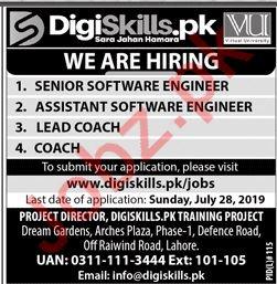 Virtual University VU DigiSkills Training Project Jobs 2019