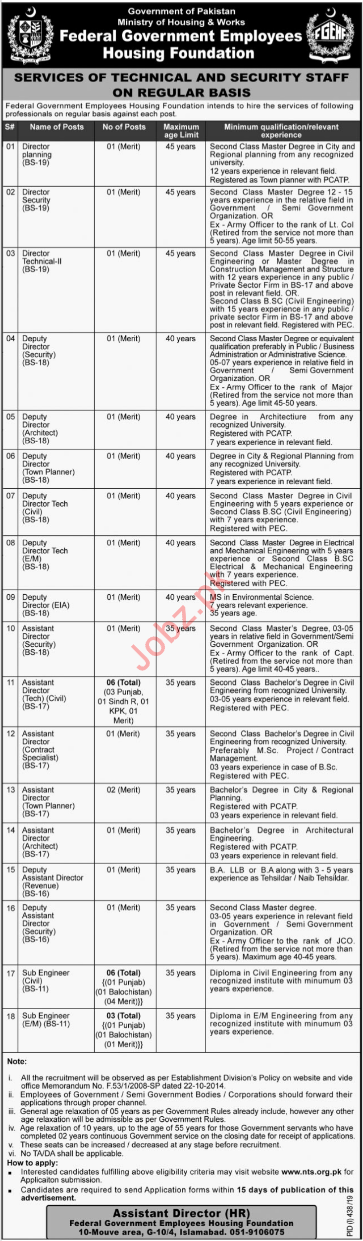 Federal Government Employees Housing Foundation Jobs via NTS