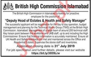 British High Commission Islamabad Jobs 2019