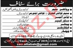 Attabak Pharmaceuticals Jobs for Managers & Electricians