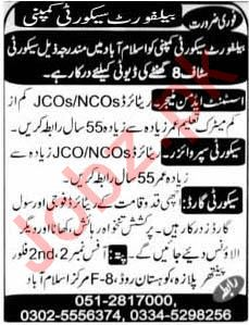 Assistant Admin Manager Security Supervisor Job in Islamabad