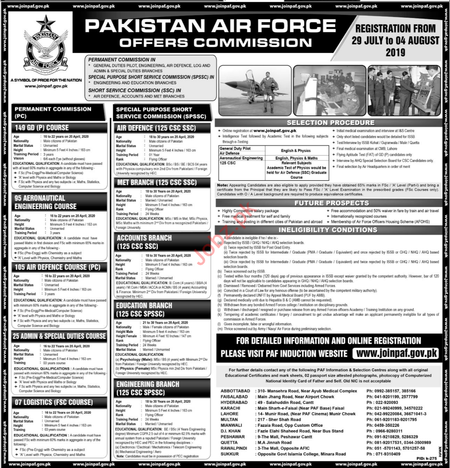 Join Pakistan Air Force As Commission Officer