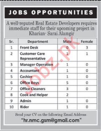Front Desk Accountant Cashier Office Boy Jobs in Kharian