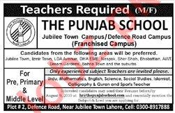 The Punjab School Teaching Staff Job in Lahore