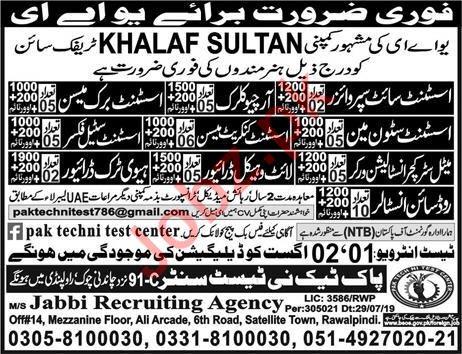 Khalaf Sultan Traffic Sign Company Jobs 2019 For UAE