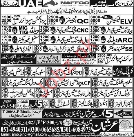 NAFFCO Company Jobs 2019 For UAE