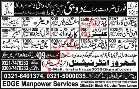 Security Guard Driver Cleaner Jobs in Dubai