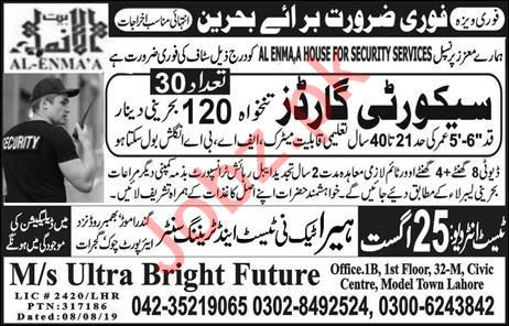 Security Guards Jobs 2019 in Bahrain