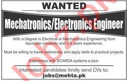 Electronics Engineer & Mechanical Engineer Jobs 2019