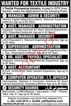 Manager Admin & Security Jobs 2019 in Karachi